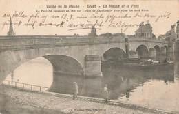 08 Givet Cpa La Meuse Et Le Pont Cachet Feldpost Feldpoststation 1915 N°76 - Givet