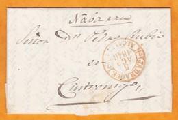 1846 - Lettre Pliée Avec Correspondance De Jadraque, Castille-La Manche Vers Cintruénigo, Navarre, Espagne - Espagne