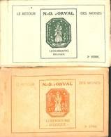 ND D'Orval - Le Retour Des Moines - Lot 2 Carnets Complet (1 X 10 Cartes + 1 X 9 Cartes) - Florenville