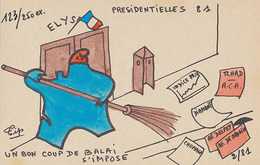 TIP - UN COUP DE BALAI S'IMPOSE - PRESIDENTIELLES 81 2/81 (N° 123/250 EX) - Satirical