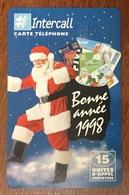 PÈRE NOËL 1998 CARTE INTERCALL 15 U CARTE À CODE PHONECARD CARD QUE POUR LA COLLECTION - Christmas