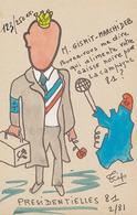 TIP - M.GISMIT- MARCHIDEB POUVEZ-VOUS ME DIRE QUI ALIMENTE VOTRE CAISSE NOIRE POUR LA CAMPAGNE 81 2/81 (N° 123/250 EX) - Satirical
