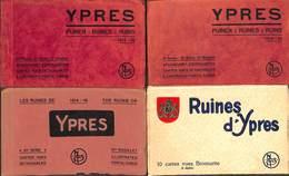 Ieper Ypres - Lot 4 Carnets Puinen Ruines Ruins Nels + Bromurite (3 X 10 Cartes + 1 X 9 Cartes) - Ieper