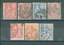 FRANCE ; Type MOUCHON ; 1900 ; Y&T N° 112 à 118 ; Oblitéré - 1900-02 Mouchon