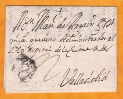 1742 - Lettre Pliée Avec Correspondance De Salamanca Vers Valladolid, Espagne - Reino De Felipe V - España