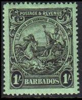 1925-1935. BARBADOS. Seal. 1 Shilling. Never Hinged. (MICHEL 143) - JF360220 - Barbados (...-1966)