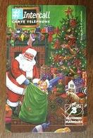 PÈRE NOËL SAPIN CARTE INTERCALL 3 HISTOIRES CARTE À CODE PHONECARD CARD QUE POUR LA COLLECTION - Christmas