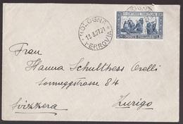 Regno, 1,25 Lire San Francesco Dentellato 13 1/2 Isolato Per La Svizzera      -CM63 - Marcofilía