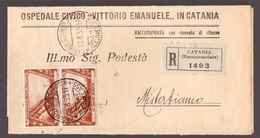 Regno, Piego Raccomandato Del 1933 Con Coppia 60 C. Decennale         -CM57 - 1900-44 Victor Emmanuel III.