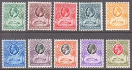 1928. GOLD COAST. Georg V. & Christiansborg Near Accra. Complete Set With 10 Ex. Neve... (MICHEL 88-97) - JF360294 - Costa De Oro (...-1957)