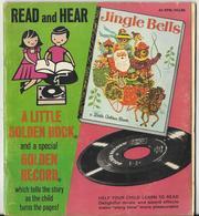 JINGLE BELLS – READ ALONG BOOK VINYL RECORD  – GOLDEN PRESS - 1964 - 000186 - Weihnachtslieder