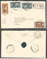 LEBANON. 1936 (3 Feb) Saida - Norway, Oslo (18 Feb) Registered Multifkd Envelope. 19 Piater 50c Rate. Very Rare Destinat - Libano