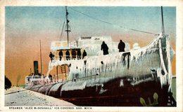 """Steamer """"Alex McDougall"""" Ice Covered.  Carguero. Cargo Ship. Naviere Cargo - Comercio"""