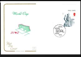 Great Britain FDC 2002 World Cup FIFA In Japan/Korea - From Wembley (NB**LAR8-88) - 2002 – Corea Del Sur / Japón