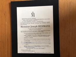 Hermans Joseph Veux Anciaux Louise *1883 Lovenjoul +1949 Kessel-lo Heverlee Hombroeckx Vandenhoeck - Décès