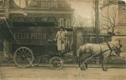 180320C - CARTE PHOTO - 92 ASNIERES Félix Potin A COLLIN 20 Grande Rue - Attelage Cheval Livreur - Asnieres Sur Seine