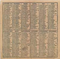 180320D - Calendrier Petit Format - 1919 Commerce Photographe ACHILLE BOUIS 82 MONTAUBAN - Calendriers
