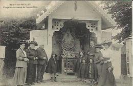 TILLY SUR SEULLES , Chapelle Du Champ De L' Apparition , CPA ANIMEE , 1911 - Autres Communes