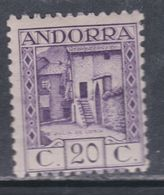 Andorre Espagnol N° 34 X  Partie De Série : 20 C. Violet Trace De Charnière Sinon TB - Andorre Espagnol