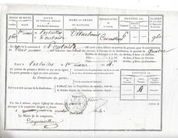 Livraison De Foin Au 6eme Régiment De Cuirassiers De Versailles è Pontoise - Historical Documents