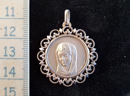 Pendentif  En Argent ,medaille Ste Marie - Etnica
