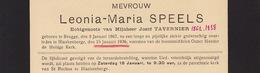 Faire Part De Décès Leonia Speels Tavernier Bruges Blankenberge - Todesanzeige