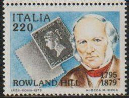 Italia 1979 Scott 1386 Sello ** Centenario Sir Rowland Hill Michel 1677 Yvert 1409 Italy Stamps Timbre Italie Briefmarke - 1971-80: Nieuw/plakker