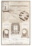 """PUB  PENDULE ELECTRIQUE   """" BULLE-CLOCK  """"   1924 ( 3 ) - Joyas & Relojería"""