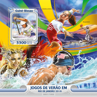 GUINEA BISSAU 2016 - Rafting At Rio Olympics - YT CV=19 €, BF1181 - Rafting
