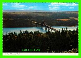 CAP-BRETON, NOVA SCOTIA - THE BRIDGE AT KELLYS MOUNTAIN, 1972 - PRE-STAMPED POSTCARD - DEXTER SUPREME - Cape Breton