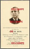 Oorlog Guerre JEAN De Rick Tournai Soldaat GESNEUVELD Te Gent LOCHRISTI 11 MEI 1940 Aanval Op Trein - Devotion Images