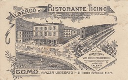 Lombardia - Como -Albergo Ristorante Ticino - F. Piccolo - Molto Bella- Danneggiata - Como