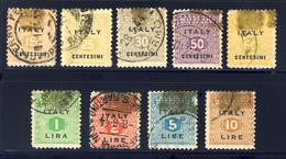 Serie Completa Annullata - Occup. Anglo-americana: Sicilia