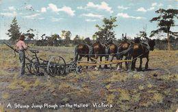 A Stump Jump Plough In The Mallee Victoria - Australia