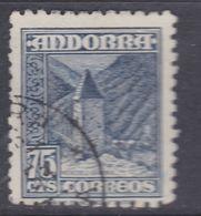 Andorre Espagnol N° 47 O Partie De Série :75 C. Bleu Foncé,  Oblitéré, TB - Andorre Espagnol