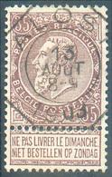 N°61 - 35 Cent. Brun, Obl; Télégraphique De ALOST 13 Août 1903 **.  Concours - 15341 - 1893-1800 Fijne Baard