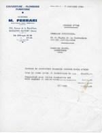 Mémoire Du 7/12/1964  établi Par La Société FERRARI M. à MAISONS-ALFORT (SEINE) Pour Travaux De Couverture - France