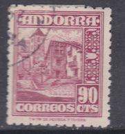 Andorre Espagnol N° 48 O Partie De Série : 90 C. Rose-lilas,  Oblitéré, TB - Andorre Espagnol