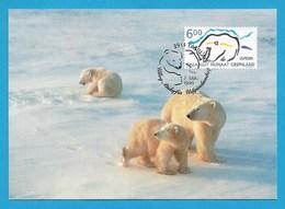 Dänemark-Grönland  1999  Mi.Nr. 338 , EUROPA CEPT - Natur- Und Nationalparks - Maximum Card - Tassiilao 7 Maj 1999 - 1999