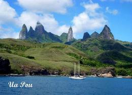 Marquesas Islands Ua Pou View New Postcard Französisch Polynesien AK - Französisch-Polynesien