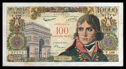 10000F Bonaparte SURCHARGE 100NF - 30.10.58 - Y 146 - TB - Fay : 55.1 - 1955-1959 Surchargés En Nouveaux Francs