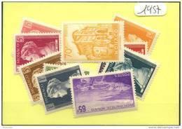 Monaco Années Completes ** (Luxe) 1957 (11 Timbres) - Monaco