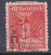 Andorre Espagnol N° 49 O Partie De Série : 1p. Rouge-orange,oblitéré, TB - Andorre Espagnol