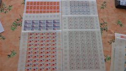 Fance 58 Feuilles Complètes 1972/1973 Faciale 1562 Francs = 238€ - Full Sheets