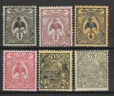 NOUVELLE CALEDONIE 1905-07 YT N° 88, 89, 90, 92, 97 Et 101 * - Unused Stamps