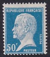 FRANCE 1923-26 - YT N°176 - Pasteur - 50 C. Bleu - NEUF** - TTB - 1922-26 Pasteur
