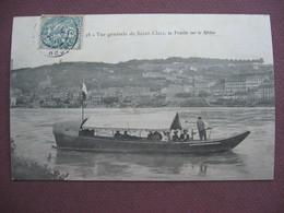 CPA 38 SAINT CLAIR DU RHONE La Traille Sur Le Rhone METIERS BATELLERIE BAC A TRAILLE CABLE Canton VIENNE - France