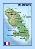 Martinique Island Map New Postcard Landkarte Karibik AK - Other