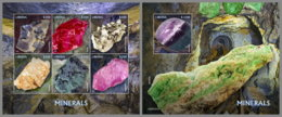 LIBERIA 2020 MNH Minerals Mineralien Mineraux M/S+S/S - OFFICIAL ISSUES - DH2012 - Minéraux