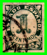 ESPAÑA SELLO AÑO 1937 GUERRA CIVIL ESPAÑOLA. CIFRAS /1 CENTIMO - 1931-50 Usados